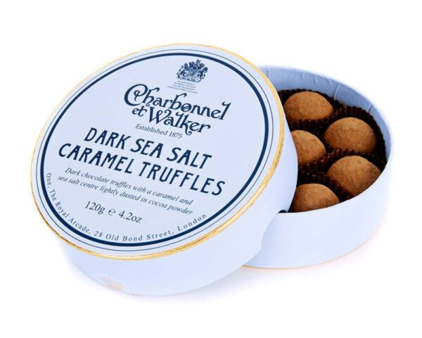 Dark Sea Salt Caramel Chocolate Truffles